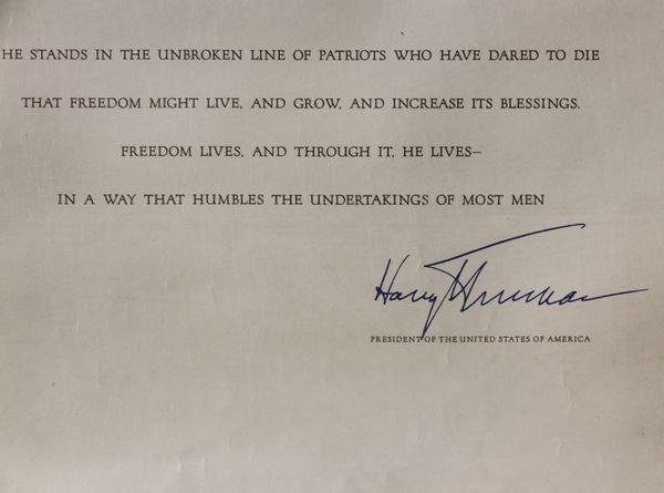 2038: Truman Signed Document - 3