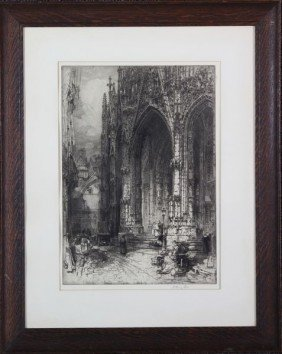 Fitton, Cathedral, Etching