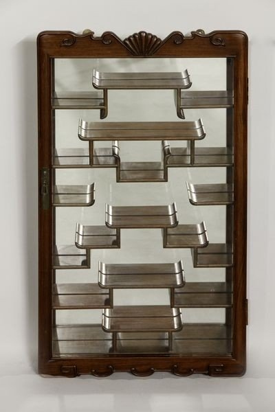 2042: 20th C. Chinese Rosewood Display Case