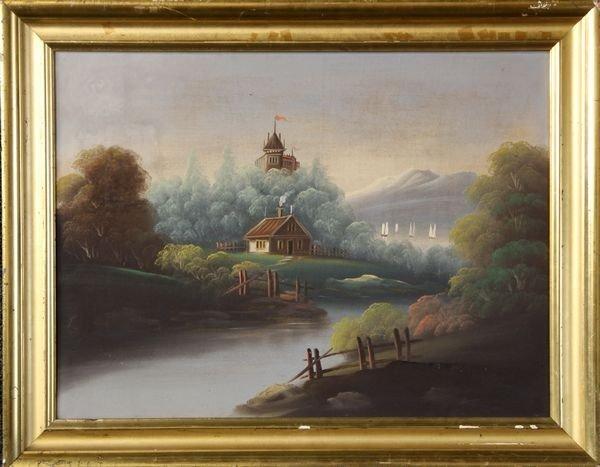 2052: 19th C. Landscape, O/C