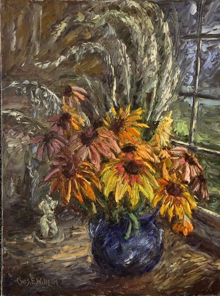 2055: Willette, Still Life with Flowers, O/C