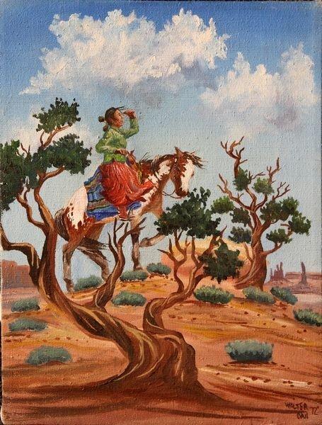 2056: Dan, Woman on Horseback, O/C