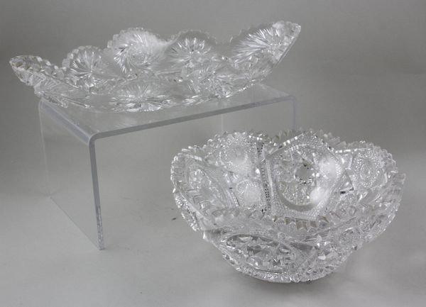 2059: 2 Pieces of American, Brilliant Cut Glass