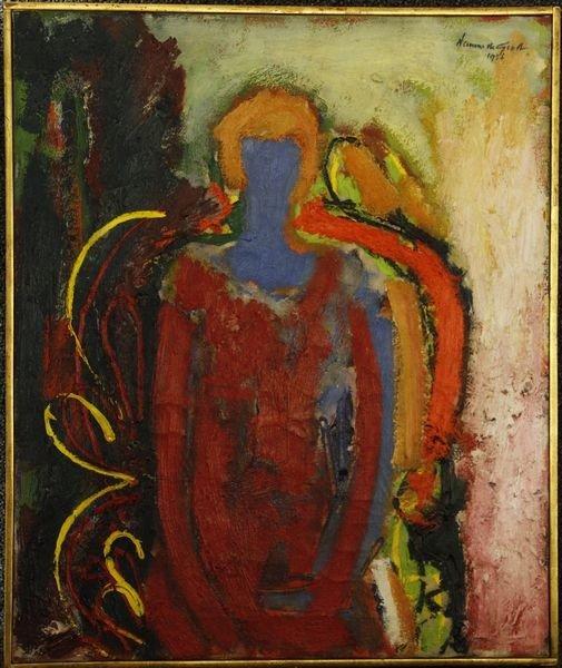 "2097: De Groot, ""Woman in Chair"", O/C"