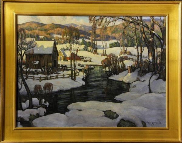 """2112: Knowles, """"White Mountain Farm"""", O/C"""