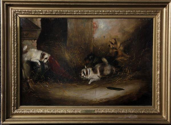 2117: Armfield, Portrait of Four Dogs, O/C