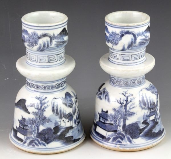 2013: Pair of 18th/19th C. Chinese Candle Holders