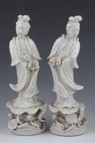 2045: Pair of Chinese Guan Yin Figures
