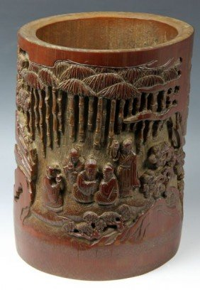 19th/20th C. Chinese Bamboo Brush Pot