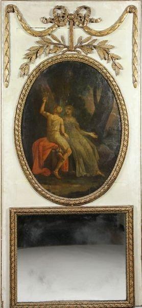2096: French Trumeau Mirror