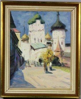 Vinogradov, Rural Scene, O/C