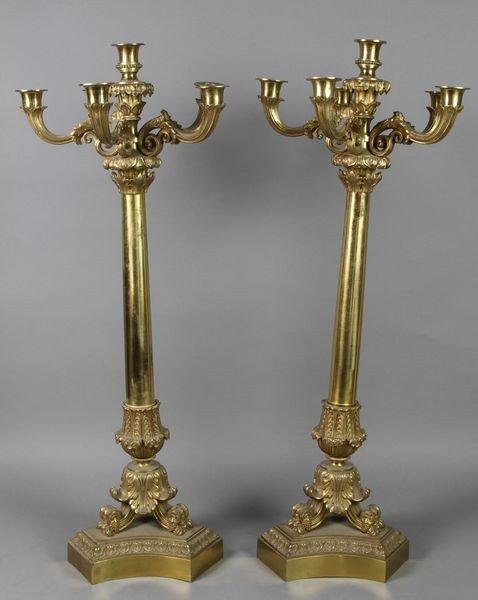 2106: Pair of Bronze Candelabras