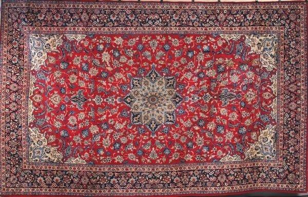 2123: C. 1950's semi antique Persian Isfahan rug