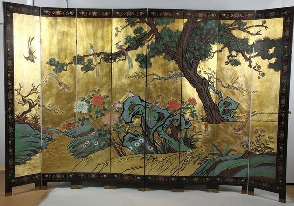 2133: Chinese 20th C. Eight-Panel Screen