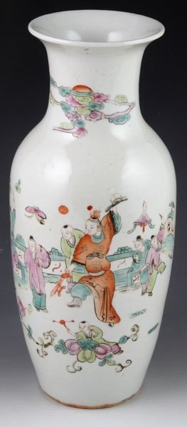 2144: 19th C. Chinese Famille Rose Vase