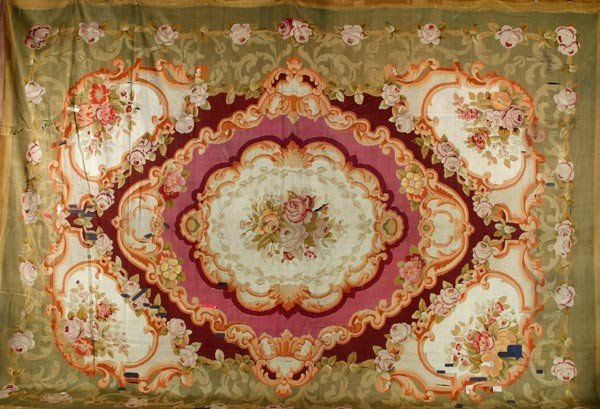 6100A: 19th C. French Aubusson Rug