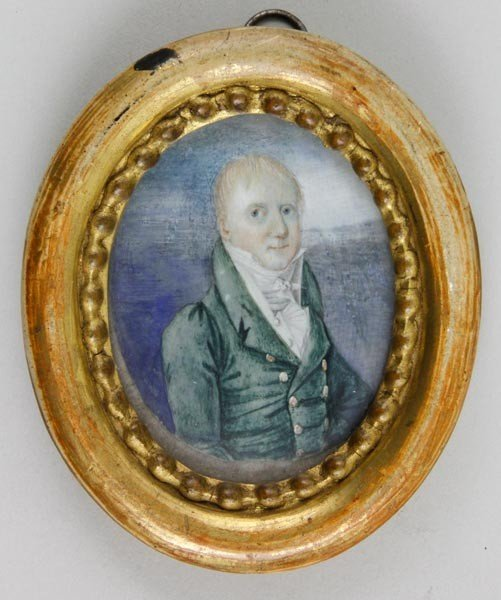 3010: 18th C. Portrait Miniature on Ivory
