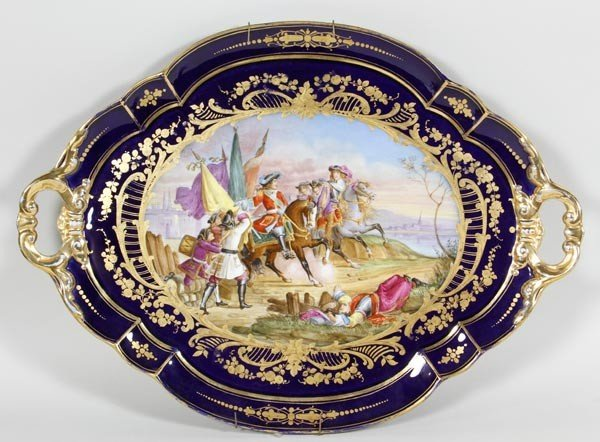 3013: 19th C. Sevres Tray