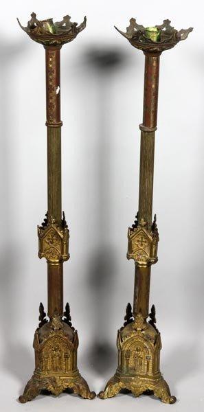 3027: Pair of Altar Candlesticks