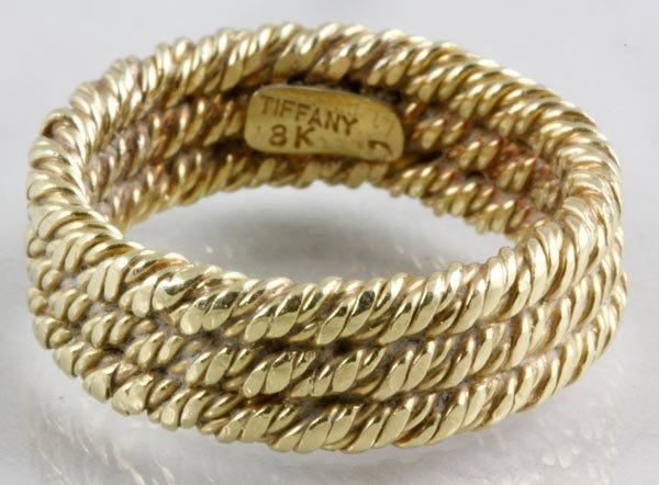 3029: Tiffany 18K Gold Ring