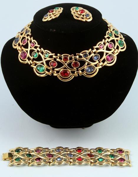 3032: Napier Necklace, Bracelet and Earrings Suite