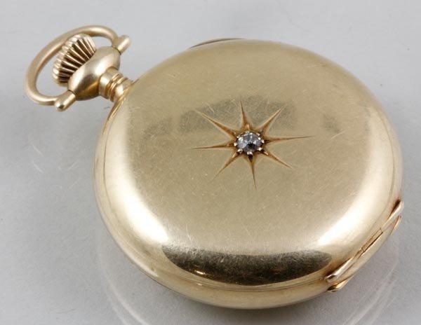 3041: Waltham 14K Yellow Gold Pocket Watch