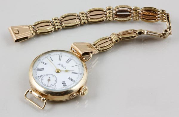 3043: F. Winter Yellow Gold Pocket Watch and Chain