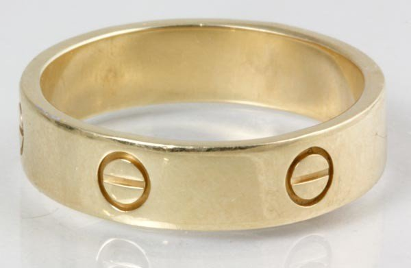 3050: Cartier 18K Yellow Gold Ring