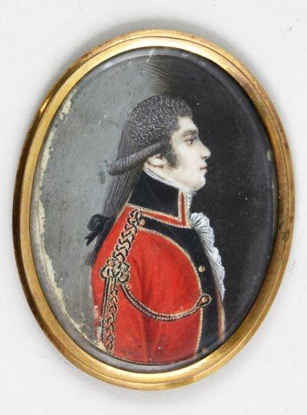 3054: 18th C. Portrait Miniature on Ivory