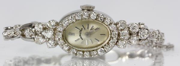 3055A: 14K Gold and Diamond Hamilton Watch