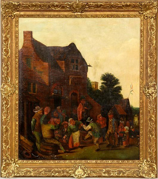 3065: 17th/18th C. Dutch School, Holiday in the Village