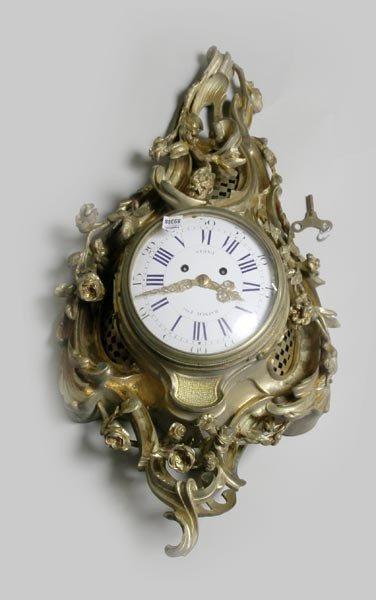 3067: Louis XVI Gilt Wall Clock