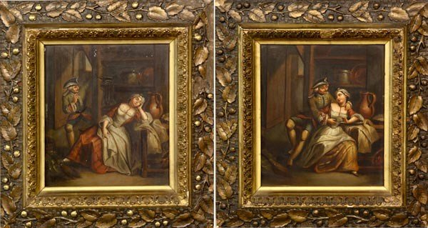 3084: Pair of 19th C. French Painted Panels