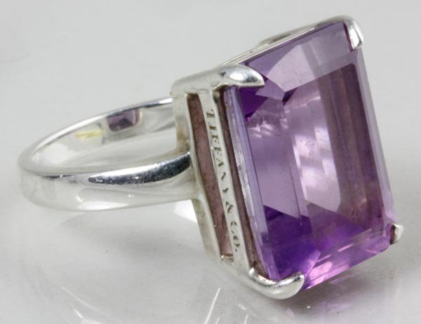 3275: Tiffany & Co. Sterling and Amethyst Ring