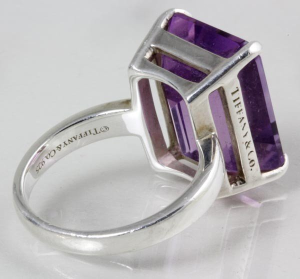3275: Tiffany & Co. Sterling and Amethyst Ring - 2