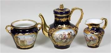 3365 19th C Sevres Tea Set