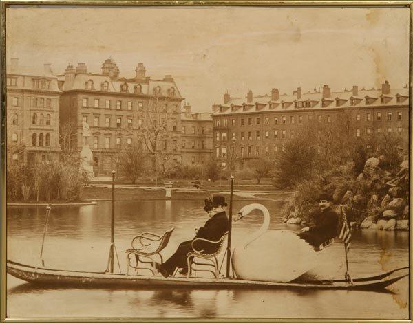 3528: Print of Swan Boat - 2