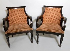 Pair Of English Style Arm Chairs