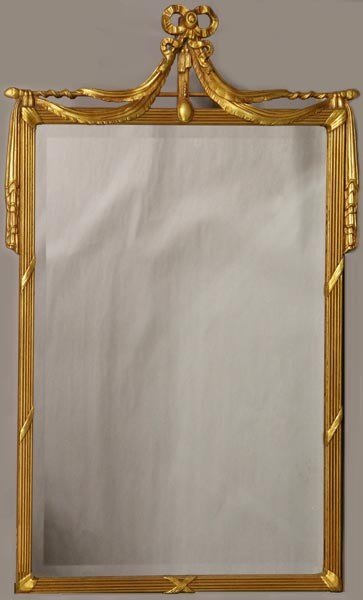 4049: Mirror with Gold Bow Detail
