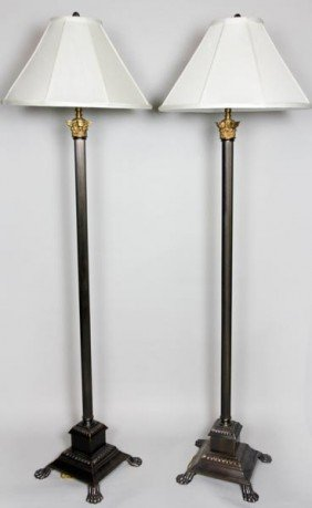 Pair Of English Style Floor Lamps