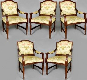 6 Regency Style Arm Chairs