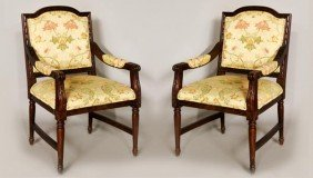 2 Regency Style Arm Chairs