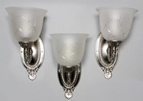 3 French Style Sconces