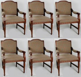 6 Checkered Dining Chairs