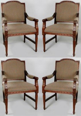 4 Checkered Dining Chairs