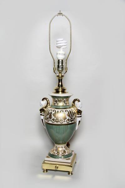 4169: Pair of Porcelain Lamps