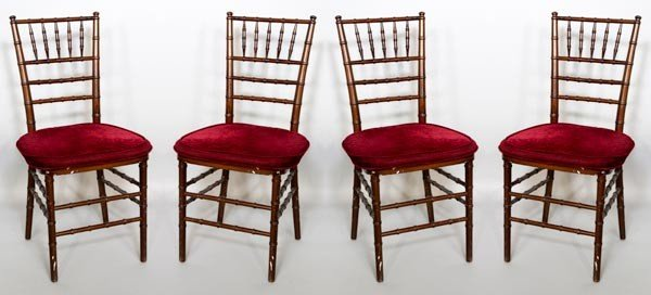 4367: 4 Victorian Bamboo Style Chairs