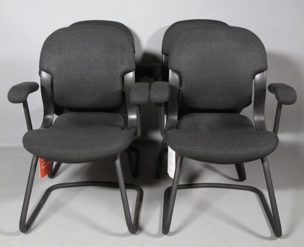 5002: 4 Miller Equa Side Chairs and 1 Rocker