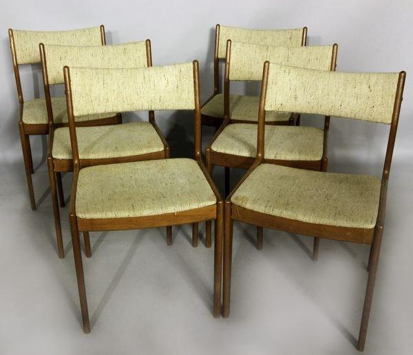 5004: 6 Danish Modern Side Chairs