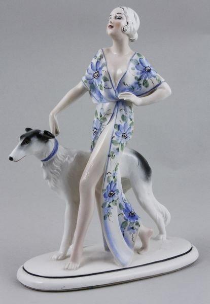 5007: 1940's Art Deco, Katzhutte, Figurine